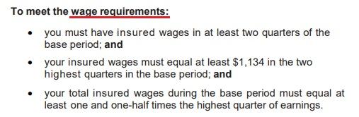 wage requirements - georgia unemployment