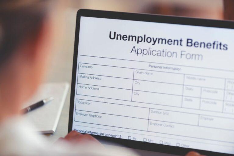Unemployment benefits application in computer